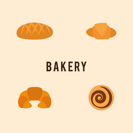 bakery products: Abstract delicuos bakery products on a light background