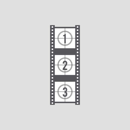 cine: Isolated cinema object on a white background Illustration