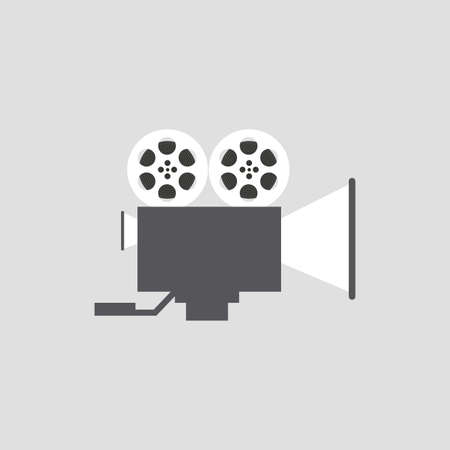 strip show: Isolated cinema object on a white background Illustration