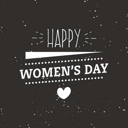 abstract happy women day label on a special background Illustration