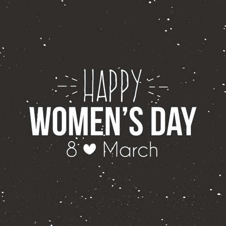 womens day: abstract happy women day label on a special background Illustration