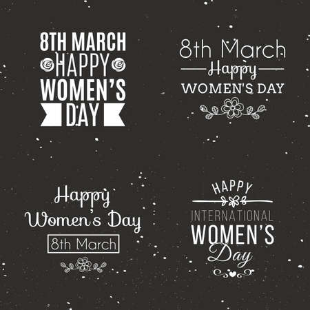 wallpaper International Women s Day: abstract happy women day labels on a special background Hình minh hoạ