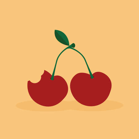 delicious: Abstract delicious Cherry on a white background