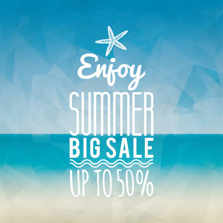 hot summer: Abstract summer sale label on a special background Illustration