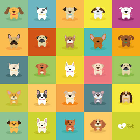 cute dogs: abstract cute dogs on a special background Illustration
