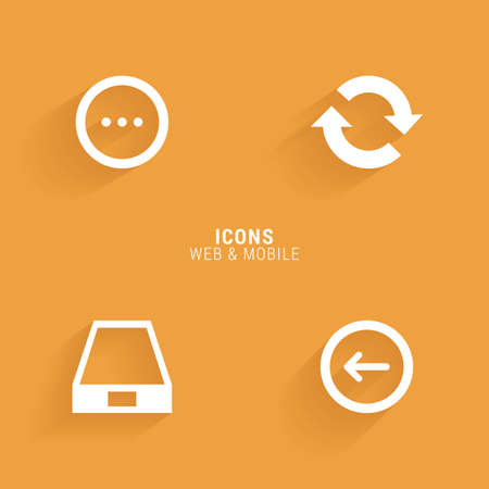 shopping chart: abstract web icons on an orange background
