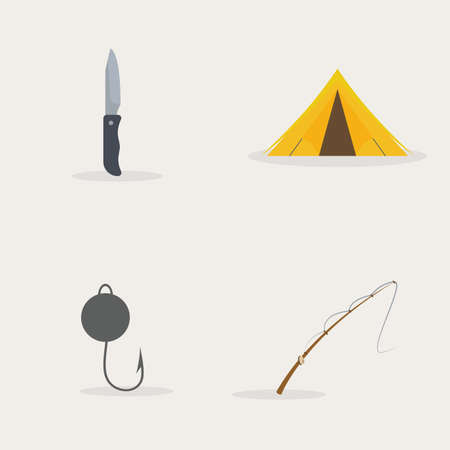 Abstract fishing object on a white background Illustration