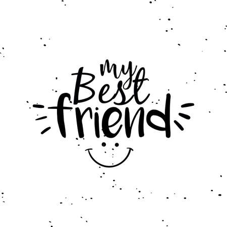 brotherhood: Abstract Friendship day label on a white background