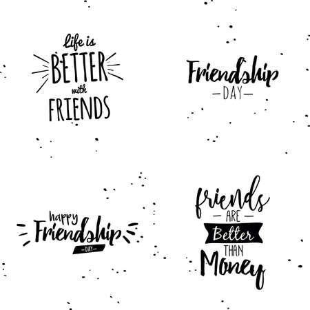 brotherhood: Abstract Friendship day labels on a white background