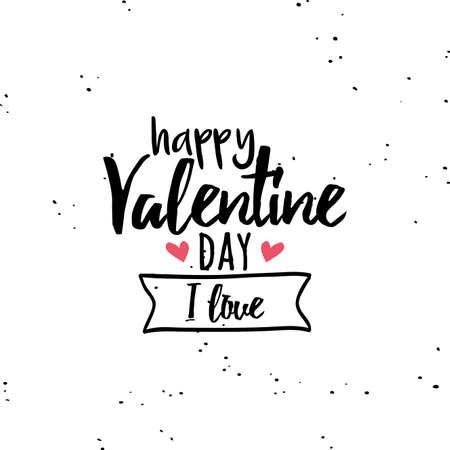 white day: Abstract valentines day label on a white background