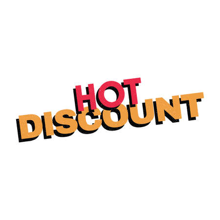 Abstract hot sale text on a white background