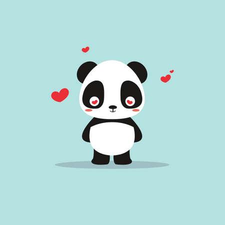 absctract cute panda on a blue background Zdjęcie Seryjne - 64428115