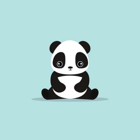 absctract lindo panda sobre un fondo azul