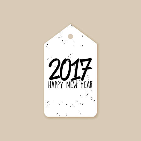 abstract happy new year label on a brown background stock vector 67776843