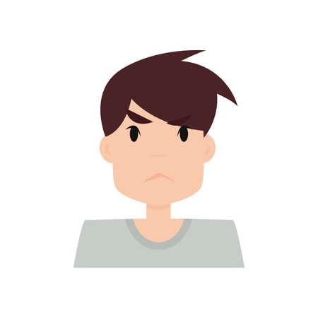 boy expression face Illustration