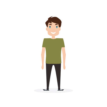 Happy young person Illustration