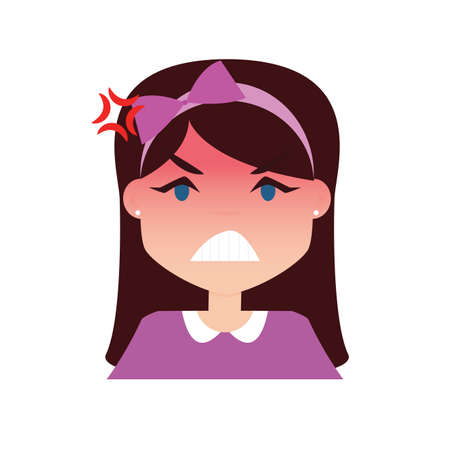 girl Expression Face Illustration