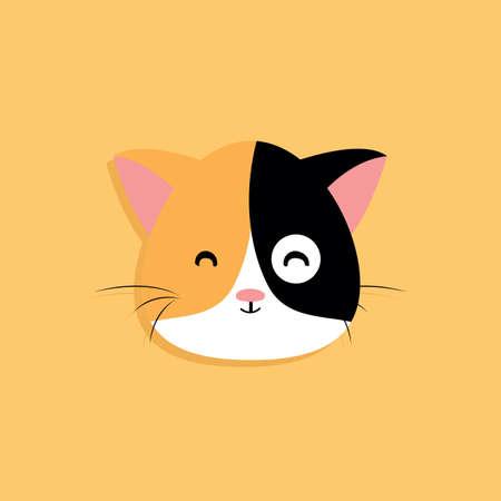 Cat cartoon face