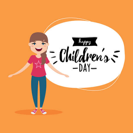 abstract happy children day background with some special objects