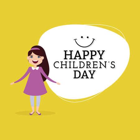 Happy Children day Vectores