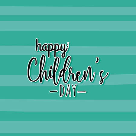 Happy Children day Illustration