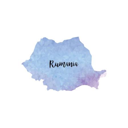rumania: Abstract Rumania map