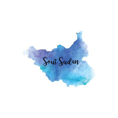 Abstract South sudan map
