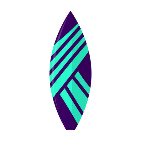 Abstract summer surfboard on a white background