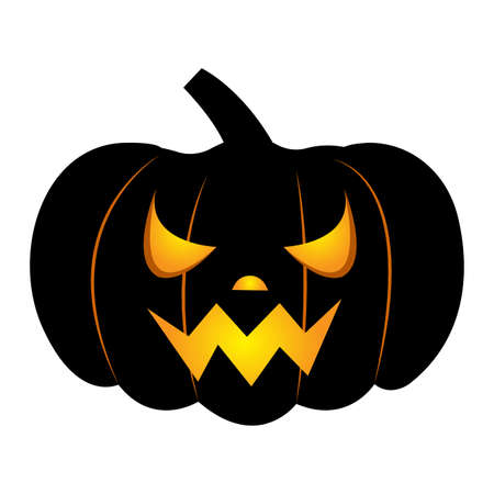 Abstract halloween pumpkin on a white background