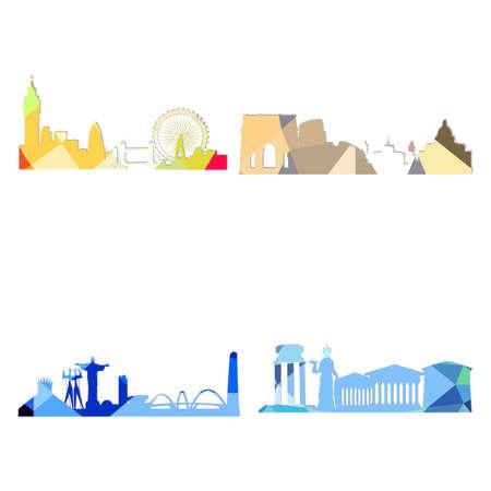 Landscape city silhouette
