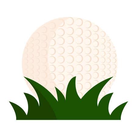 초록 골프 공을 잔디 뒤에