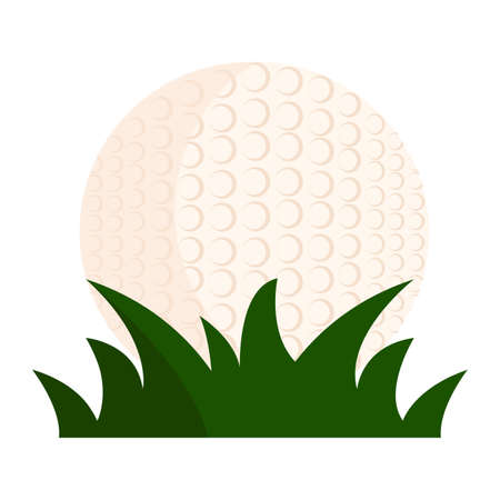 Abstract golf ball on a behind a grass Illustration