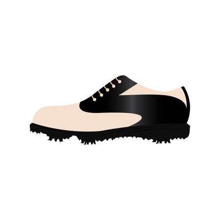 Abstract golf shoes isolated Vector illustration. Illusztráció