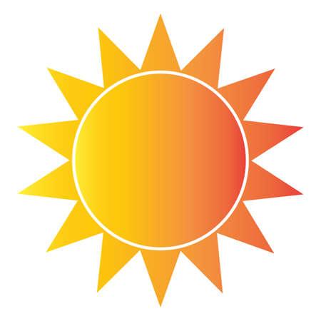 abstract sun shape isolated Vector illustration.