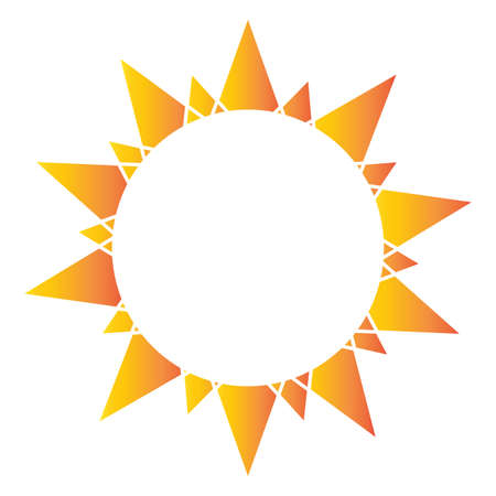 Abstract sun shape on a white background