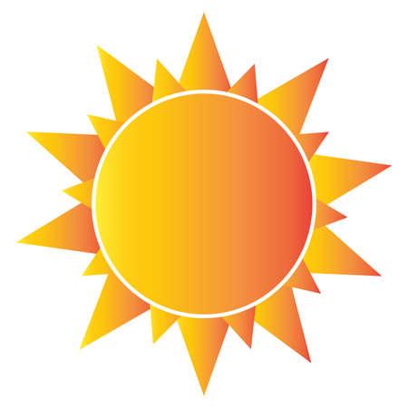 abstract sun shape Vector illustration.