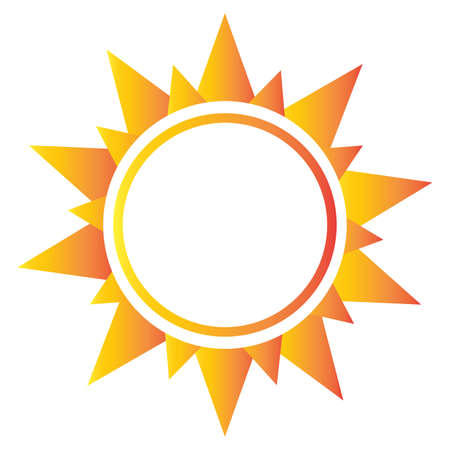 abstract sun shape on a white background Illustration