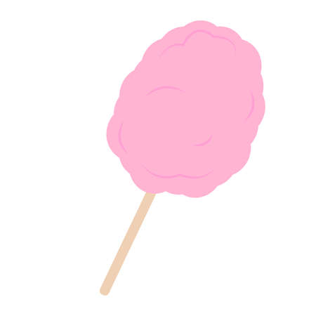 Pink cotton candy illustration.