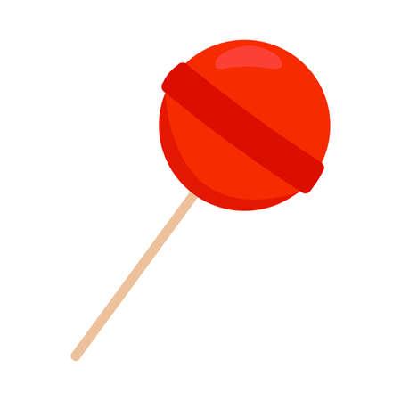 Red lollipop illustration.
