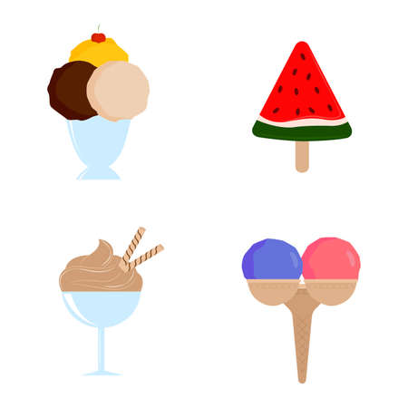 Abstract delicious icecream on a white background Illustration
