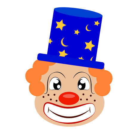 Abstract cute clown on a white background.