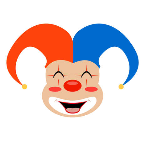 Abstract cute clown on a white background Vettoriali
