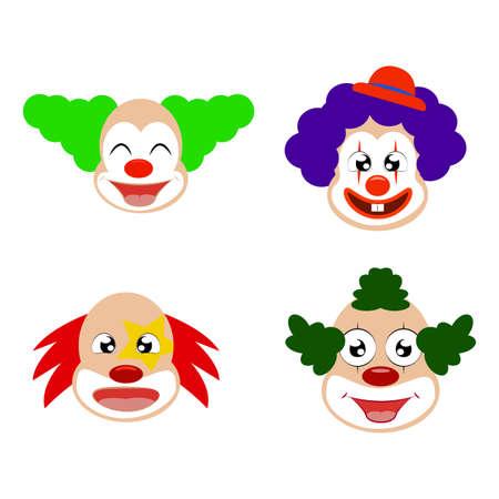 Abstract cute clown on a white background Ilustração