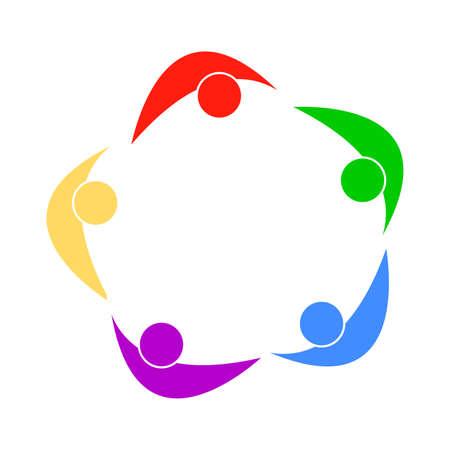 abstract group symbol Vector illustration. Illustration