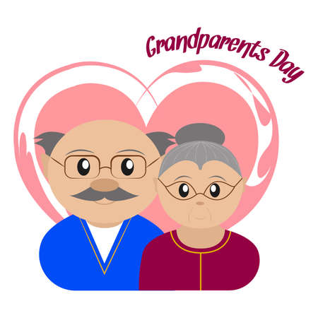 Happy grandparents day Vector illustration.