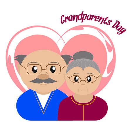 Happy grandparents day Vector illustration.