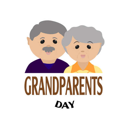 abstract happy grandparents day background with some special objects Иллюстрация