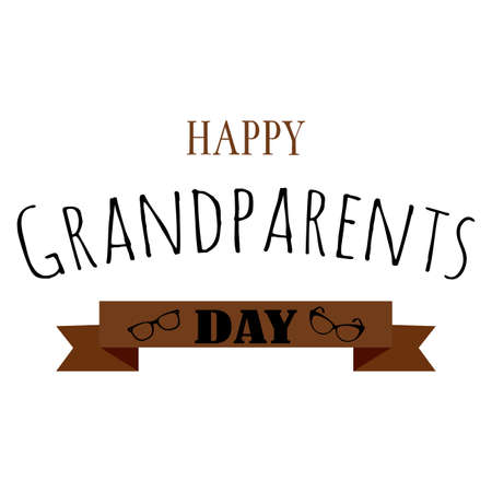 abstract happy grandparents day background with some special objects Illustration