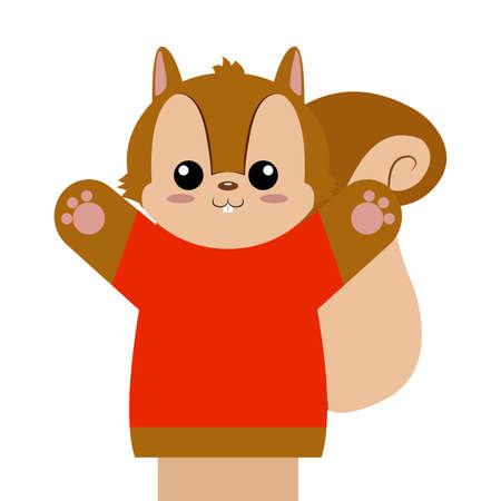 Cute puppet animal Vector illustration.