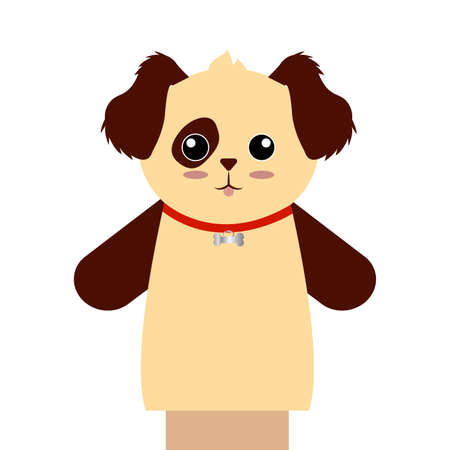 Cute puppet animal Vector illustration.